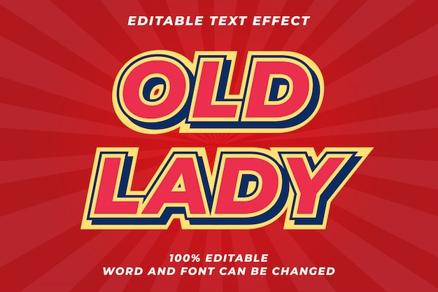 Red old retro text style effect