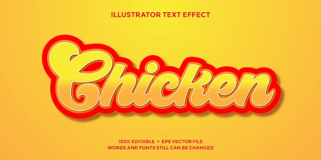 Red and orange 3d text effect templates