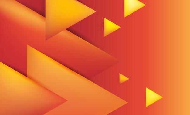 赤オレンジと黄色の三角形のモダンな抽象的な背景デザイン