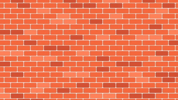 Red or orange brick wall background