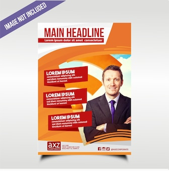 Red orange business flyer template