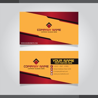 Red and orange modern creative business card and name card