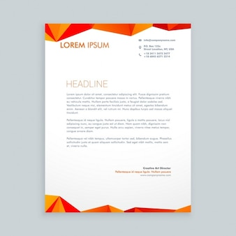 Red and orange triangles letterhead