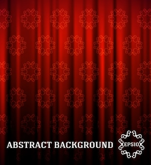 Red ornamental curtain background