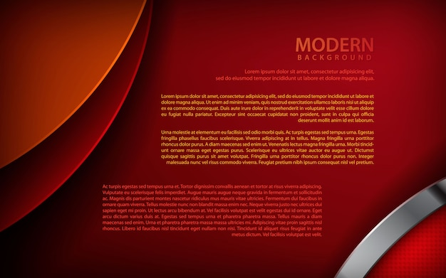 Red overlap silver dimension background