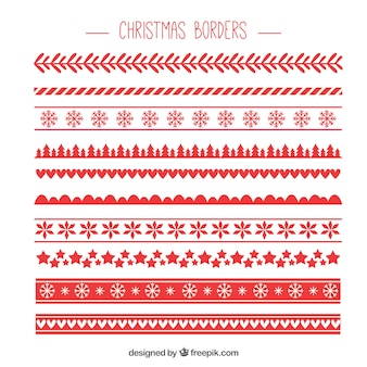 red pack of christmas borders