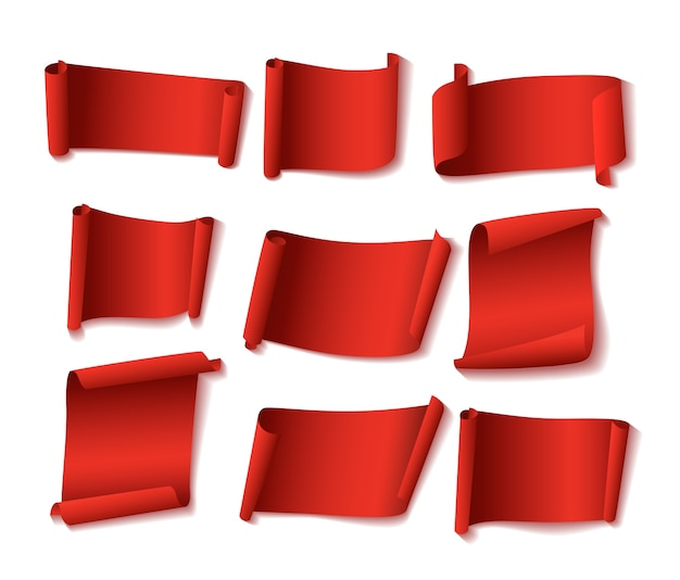 Red paper banners set