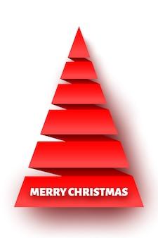Красная бумажная рождественская елка.
