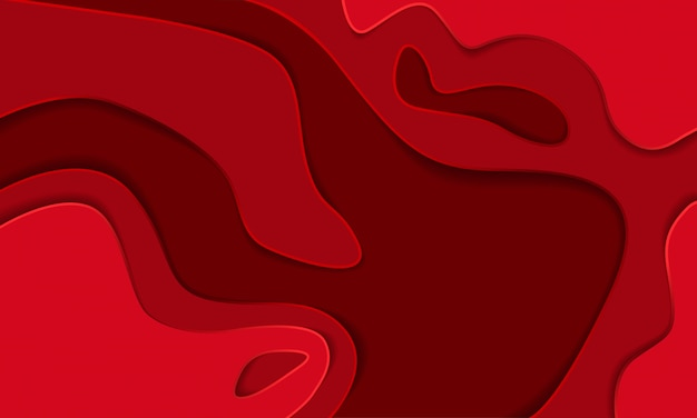 Red paper cut abstract background