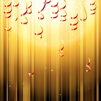 Red paper streamers background