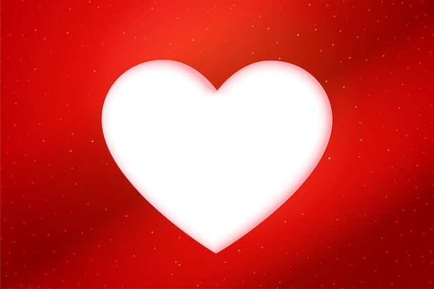 Red papercut style white heart background
