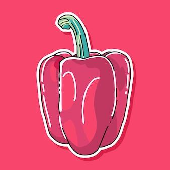 Red paprika cartoon design
