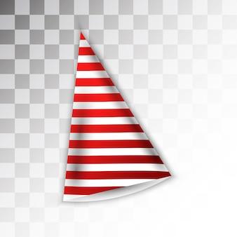 白い縞模様の赤いパーティハットのデザイン