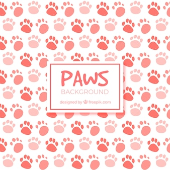 Red paws background