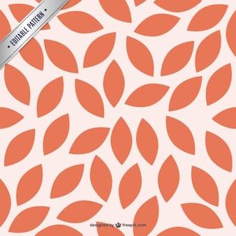 붉은 꽃잎 패턴