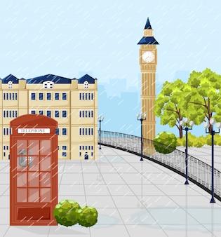 Красная телефонная будка в лондоне