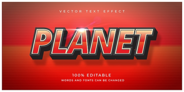 Red planet text effect