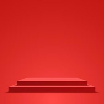 赤い表彰台台座ベクトル図
