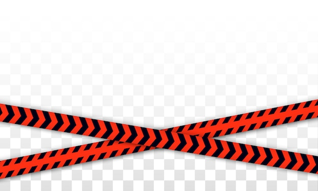 Red police line warning tape, danger, caution tape. covid-19, quarantine, stop, do not cross, border closed. red and black barricade. quarantine zone due to coronavirus. danger signs. vector.