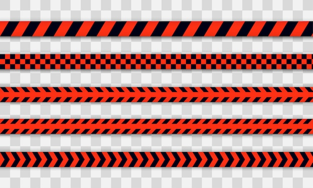 Red police line warning tape, danger, caution tape. covid-19, quarantine, stop, do not cross, border closed. red and black barricade. quarantine zone due to coronavirus.