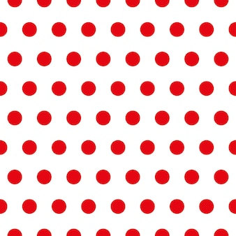 Red polka dot fabric. retro vector background or pattern