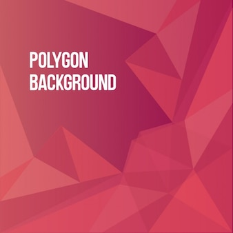 Red polygonal background