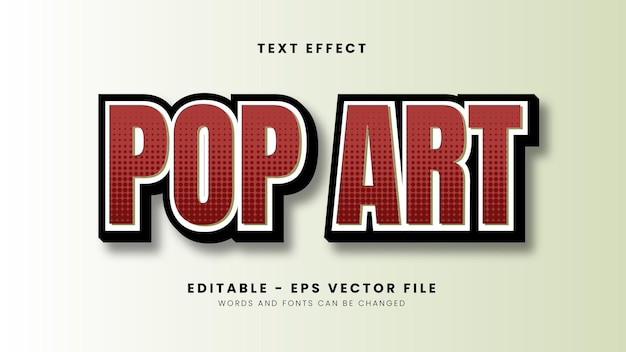 Red pop art text effect