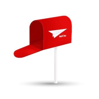 Red post box logo design template
