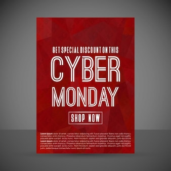 Red poster, cyber monday