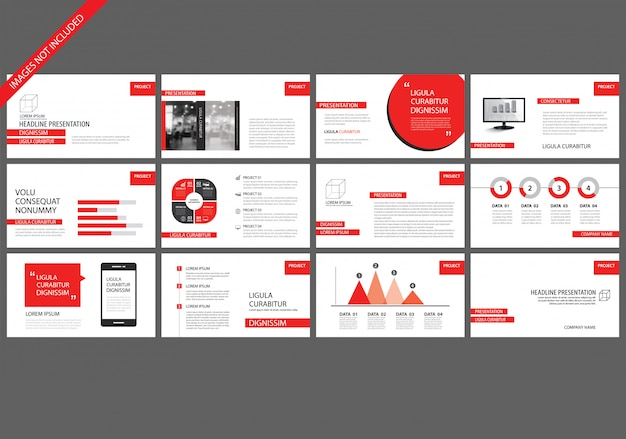 Red presentation templates for slide show background.