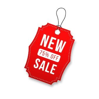 ブラックフライデーの赤い値札タグのデザイン現実的な販売ラベル