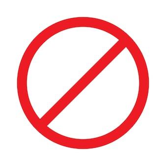 白い背景で隔離の白いプレート上の赤い禁止記号