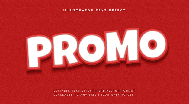 Red promotion cutout text style font effect