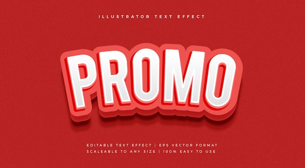 Red promotion text style font effect