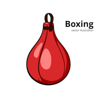 Red punching ball.