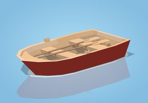 Red punt boat