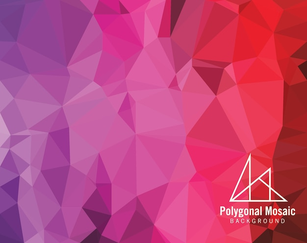 Red purple polygonal mosaic background