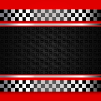 Red race background