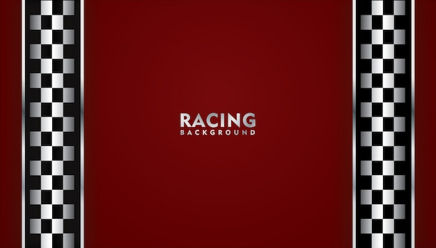 Red racing background, racing square background