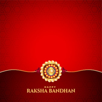Red raksha bandhan indian festival card