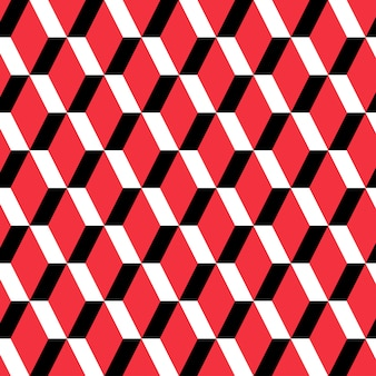 Red rectangle seamless pattern