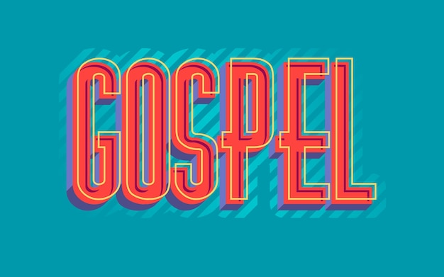Red religious gospel word