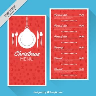 Red restaurant menu model