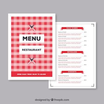 Red restaurant menu template