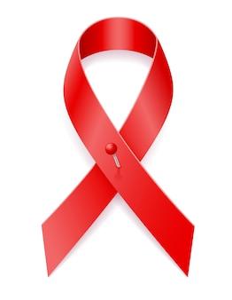 赤いリボンは白で隔離された意識を助けます