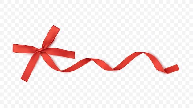 Красная лента и бантик для подарочных карт для подарочных коробок