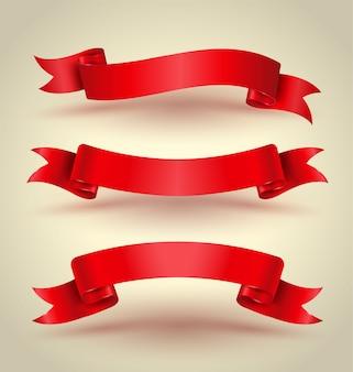 赤いリボンのバナーは高品質を設定します。