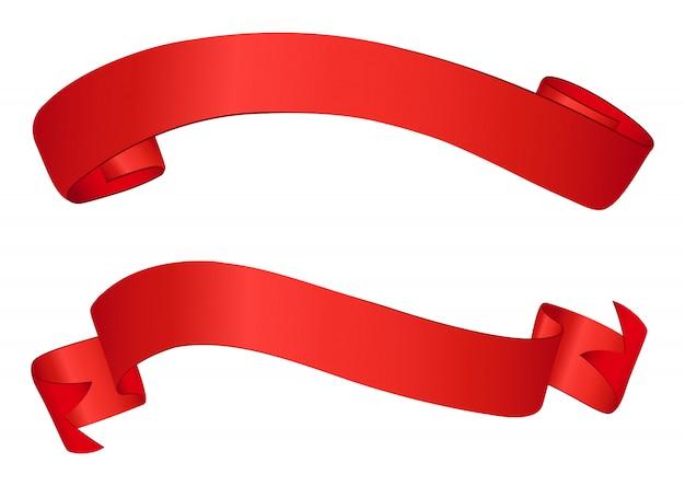 赤いリボンバナー