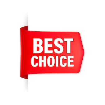 Red ribbon. best choice guaranteed label.