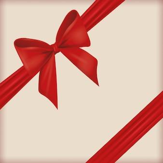 Red ribbon bowtie decoration